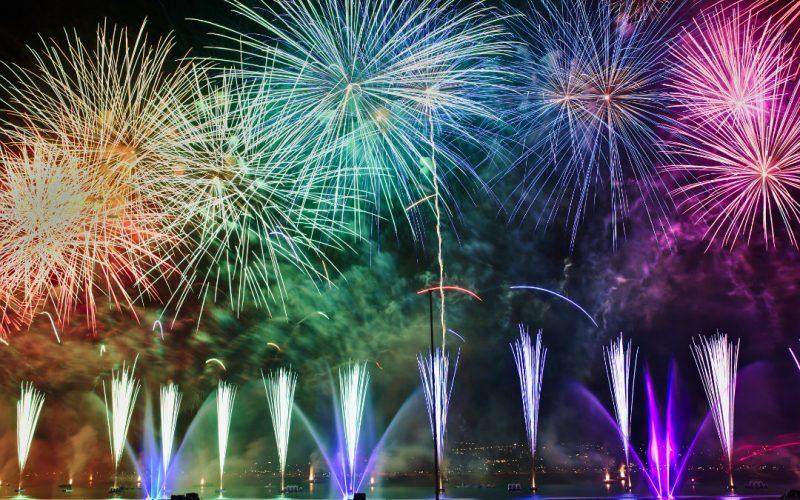 Neujahrsvorsätze-Feuerwerk